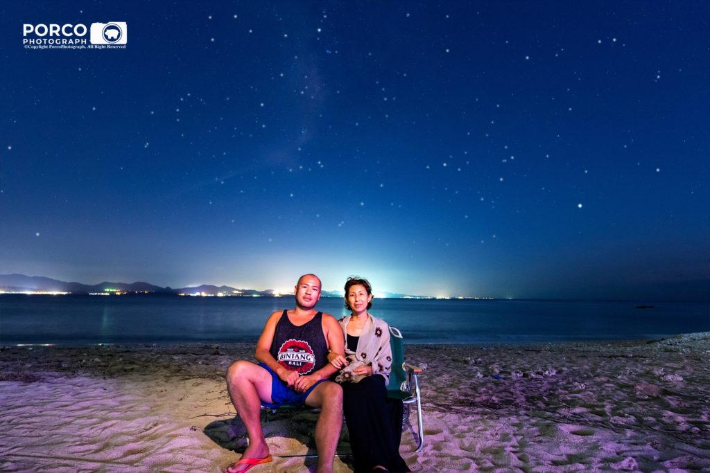 沖縄 出張撮影 星空記念写真 家族写真 子供写真 ビーチ