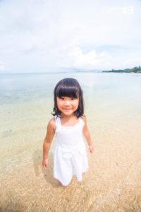 沖縄 出張撮影 家族写真 子供写真 ビーチ