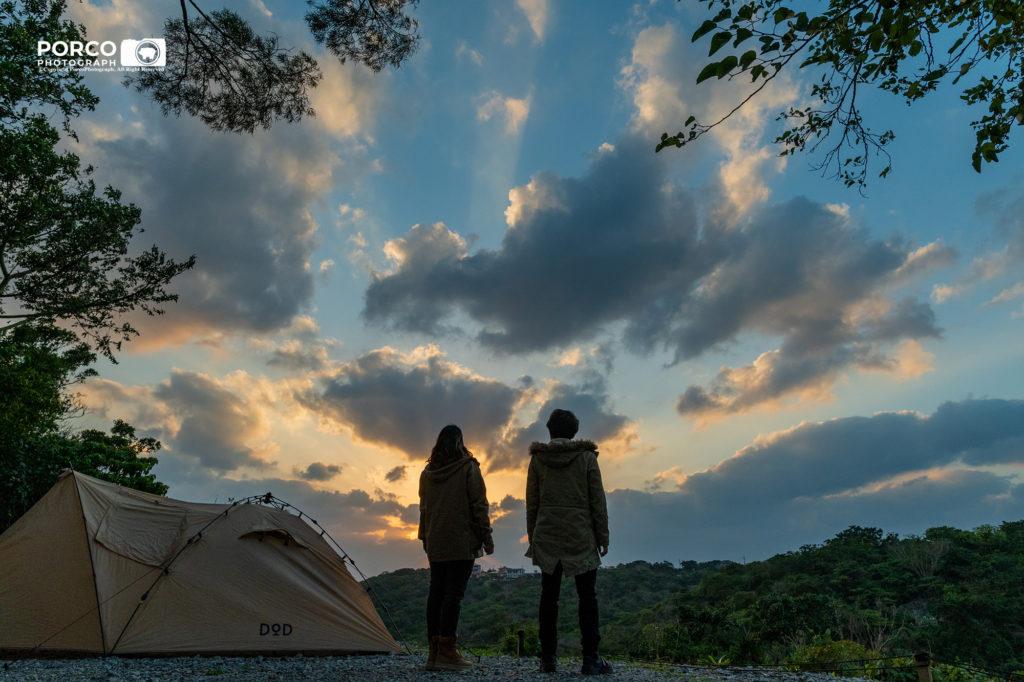 キャンプ,夕焼け,空,思い出