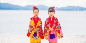 沖縄 出張撮影 七五三 星空記念写真 家族写真 子供写真 ビーチ