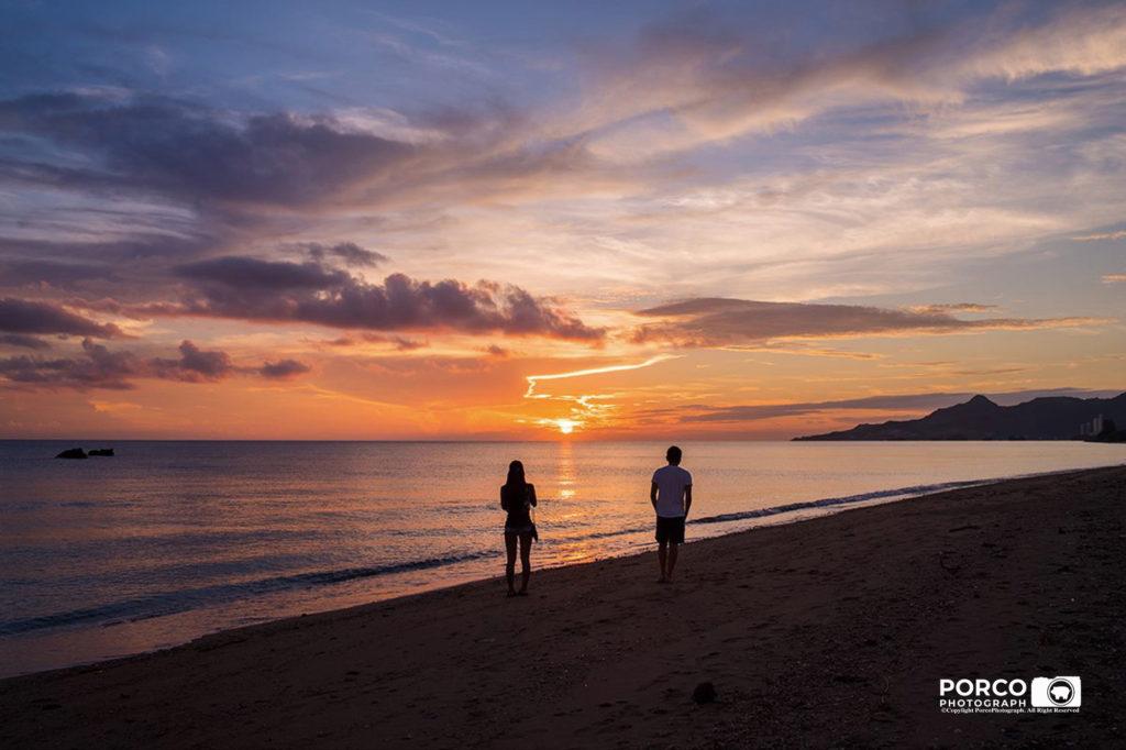 名護湾の夕陽